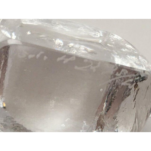 Erik Höglund for Boda Scandinavian Modern Art Glass Owl For Sale In New York - Image 6 of 10