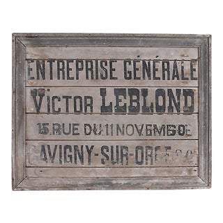 French General Contractor Sign For Sale