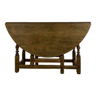 19th Century English Oak Gate Leg Table For Sale