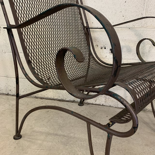 Vintage Iron Patio Chairs - a Pair For Sale - Image 9 of 11