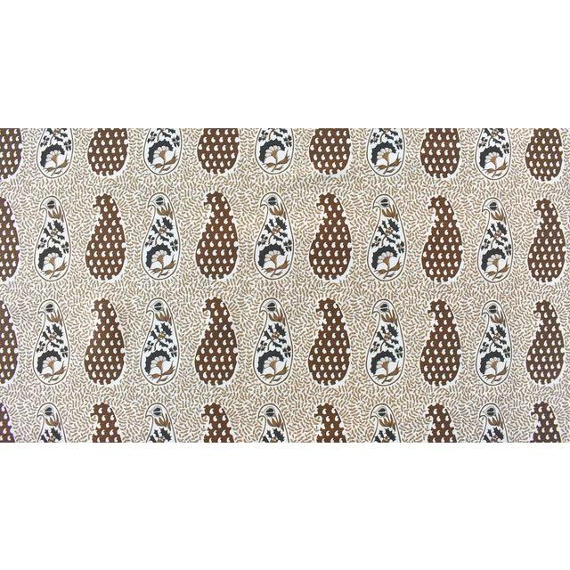 Virginia Kraft Jangal Supreem Fabric, 3 Yards in Naturals For Sale