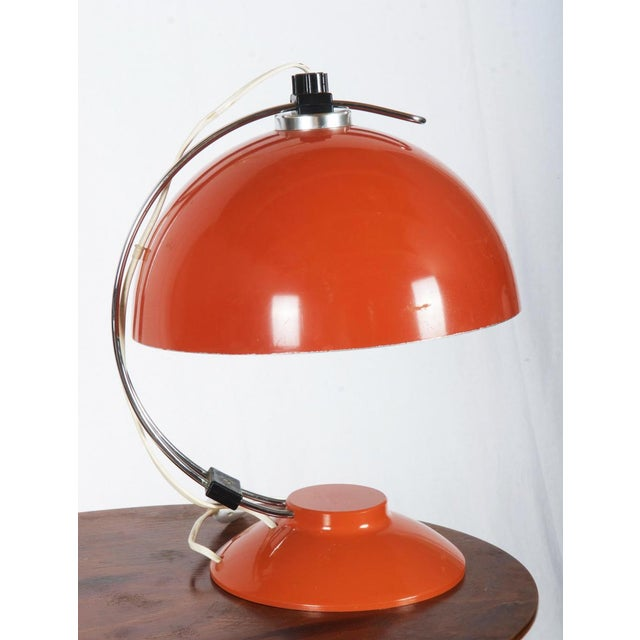 Mid-Century Orange Table Lamp, 1970s For Sale - Image 6 of 6
