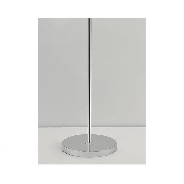 Mid-Century Modern Metro Ivory With Polished Chrome Floor Light With 3 Lighting Cones For Sale - Image 3 of 5