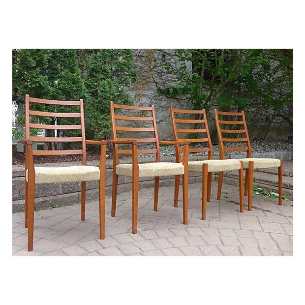 Mid Century Modern Dining Chair Set - Set of Four - Image 3 of 7