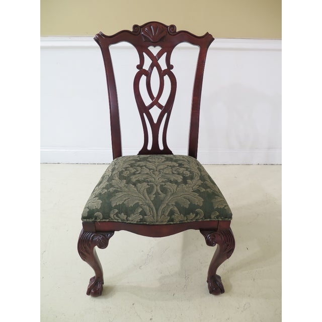 Chippendale Modern Century Ball & Claw Dining Room Chairs- Set of 10 For Sale - Image 3 of 13