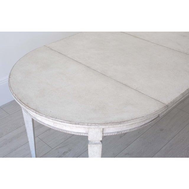 Märta Gustavian Extension Dining Table For Sale - Image 9 of 11
