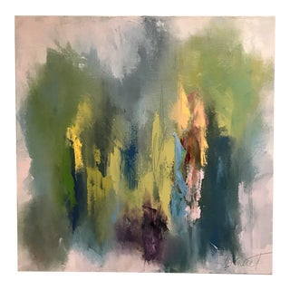 Greens & Blues Abstract Oil Painting