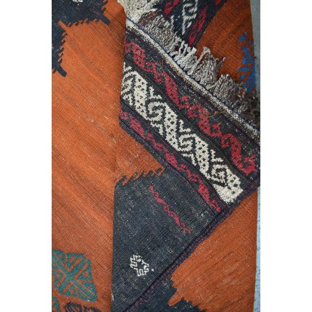 Afghan Nomadic Handwoven Afghan Kilim Rug - 2′11″ × 4′10″ For Sale - Image 3 of 4