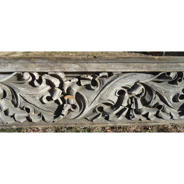 Acanthus Leaf Carved Wood Pediment - Image 6 of 11