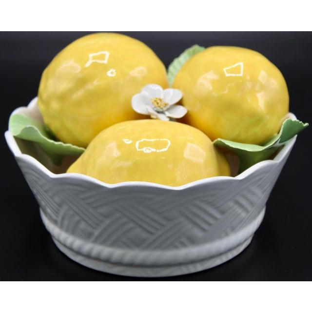 Italian Ceramic Round Lemon Basket For Sale - Image 11 of 11