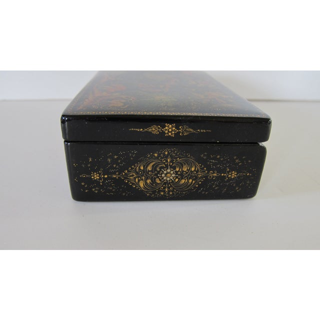 Russian Lacquered Hinged Box For Sale In San Francisco - Image 6 of 7