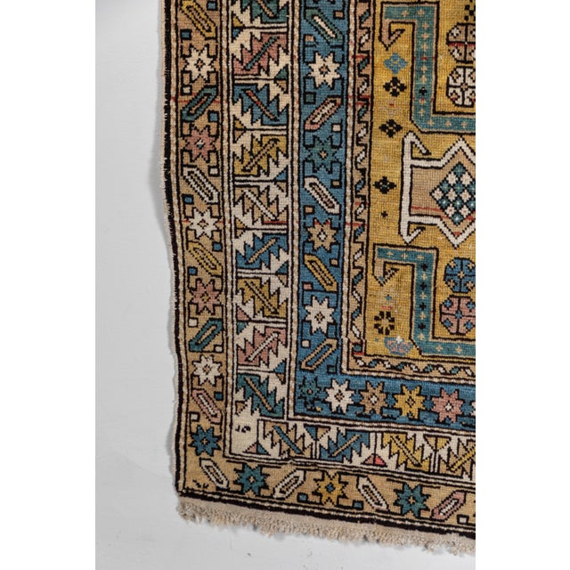 Textile Shirvan 19th Century Caucasian Rug - 3′10″ × 4′10″ For Sale - Image 7 of 9