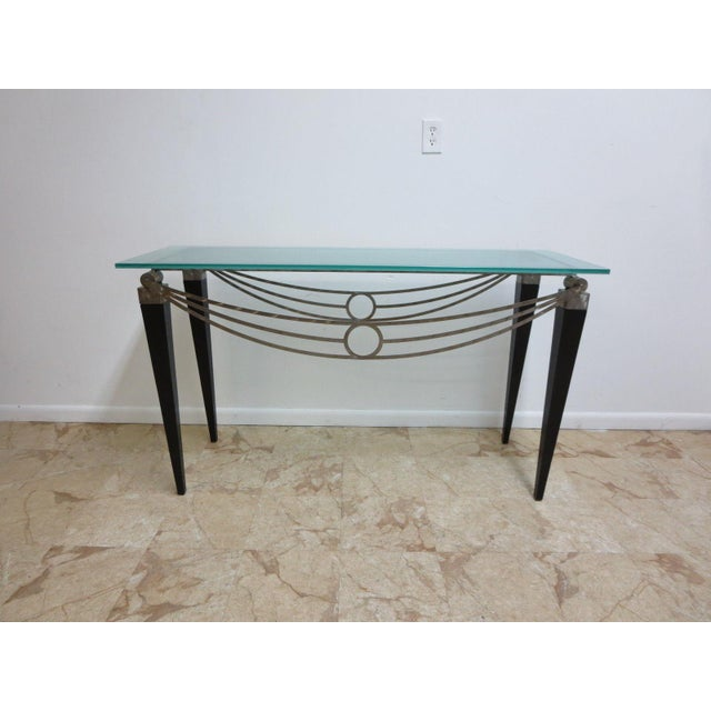Neo Classical Metal Draped Federal Sofa Hall Foyer Table Server Console For Sale - Image 11 of 11