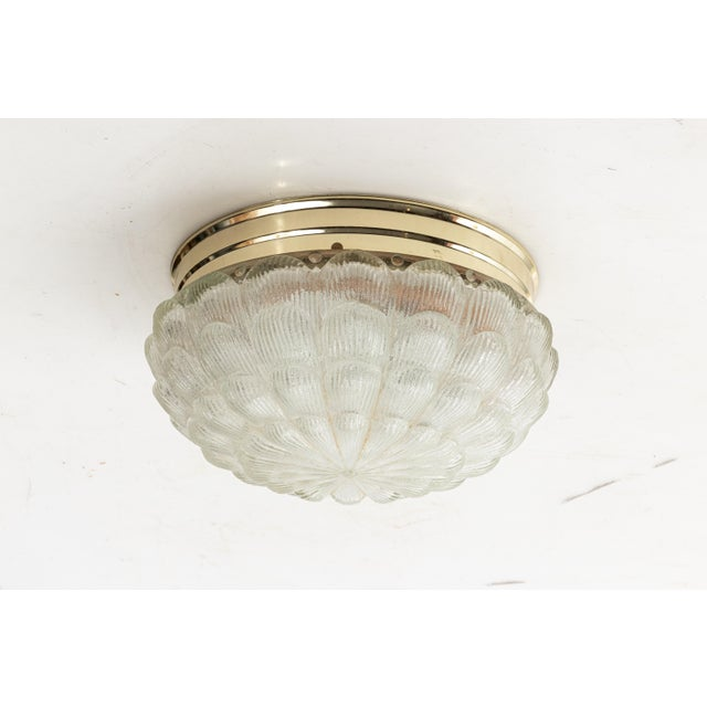 Metal Murano Flush Mount Chandelier For Sale - Image 7 of 7