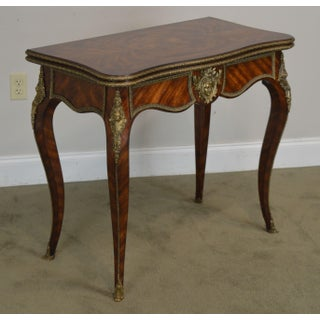"Theodore Alexander Althorp Living History ""Chance"" Louis XV Style Mahogany Card Table Preview"