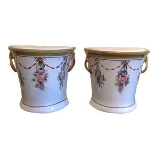 Chelsea House Cain Collection Porcelain Vases - a Pair For Sale