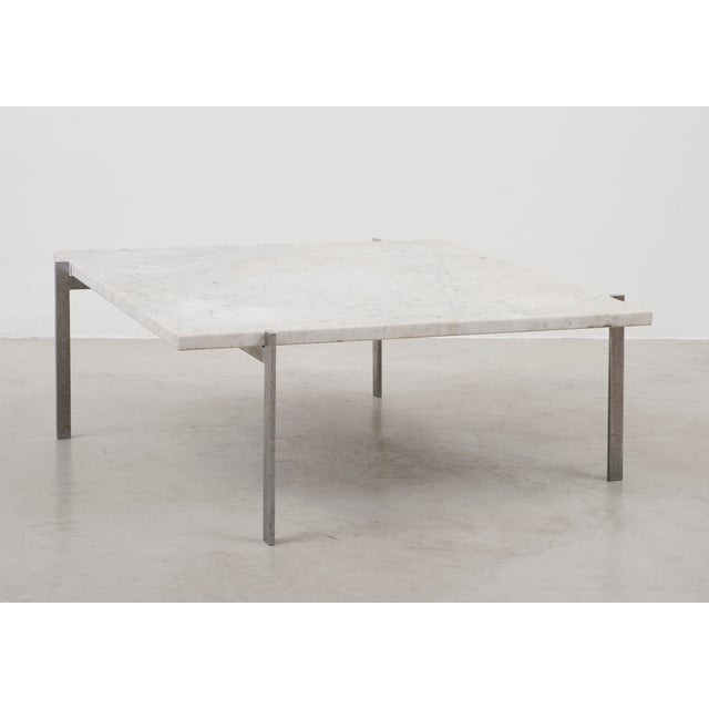 A nice example of the iconic PK61 by Poul Kjaerholm in honed white marble. Manufactured and marked by Fritz Hansen,...