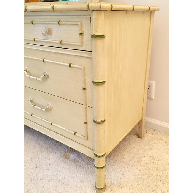 Asian Palm Beach Regency Faux Bamboo Dresser Thomasville For Sale - Image 3 of 8