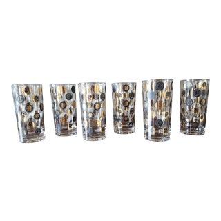 Vintage Mid-Century President's Barware Glasses - Set of 6 For Sale