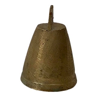 Vintage Mid Century Brass Bell For Sale