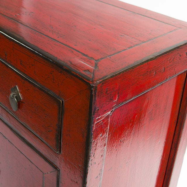 1890's Chinese Red Sideboard - Image 3 of 3