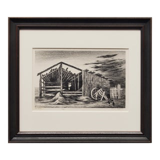 """""""Old Shed"""" Original Lithograph"""