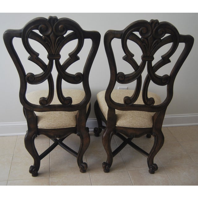 A Pair of French Style Wood Back Side Chairs - Image 9 of 11
