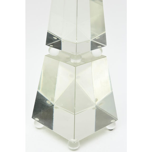 Modern Fine Pair of Monumental Murano Glass Obelisks by Alberto Dona For Sale - Image 3 of 9