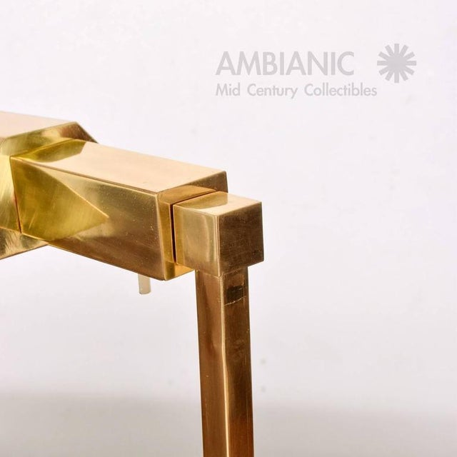 Mid-Century Modern Brass Table Desk Lamp For Sale - Image 9 of 9