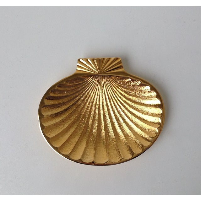 Gold Plated Fanned Shell-Shape Ring Dish - Image 11 of 11