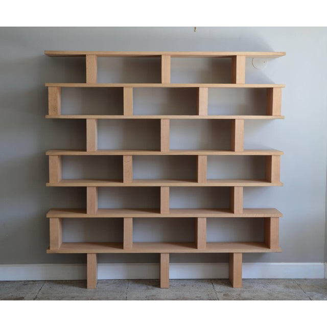 Contemporary Design Frères Verticale Polished Oak Shelving Unit For Sale In Los Angeles - Image 6 of 7