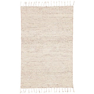 Jaipur Living Perkins Handmade Dot Ivory & Burgundy Area Rug - 5′ × 8′ For Sale