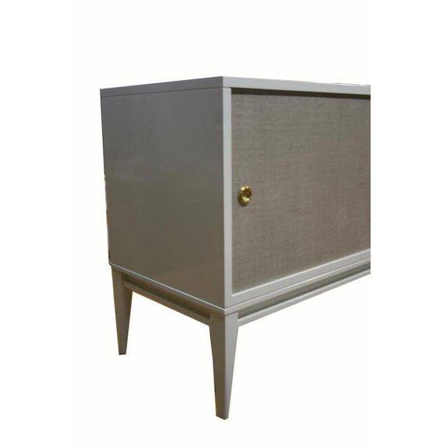 Customizable Bishop Lacquered Linen Door Console - Image 8 of 10
