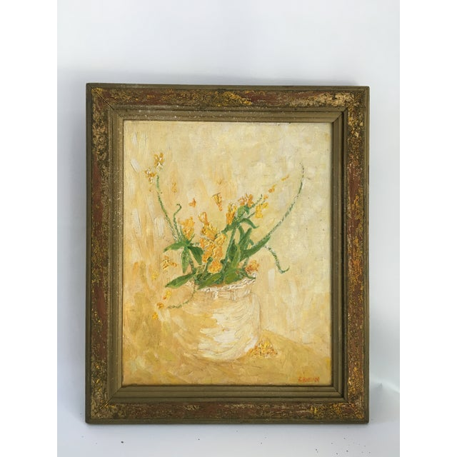 Mid-Century Floral Abstract Original Painting - Image 5 of 6