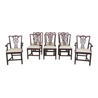 Councill Craftsmen Chippendale Mahogany Dining Room Chairs- Set of 8 For Sale
