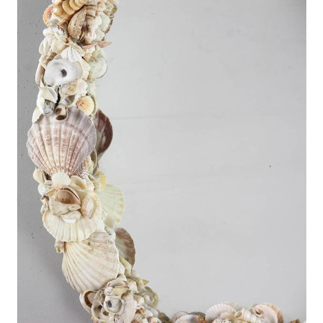 1950s Vintage Shell Encusted Mirror For Sale In Boston - Image 6 of 7