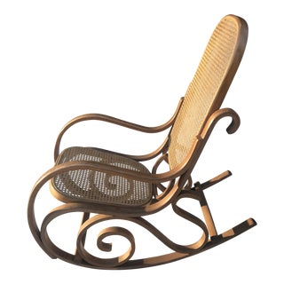 Thonet Style Cane Back Rocking Chair
