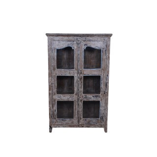 Rustic Style Rique Wooden Cabinet For Sale