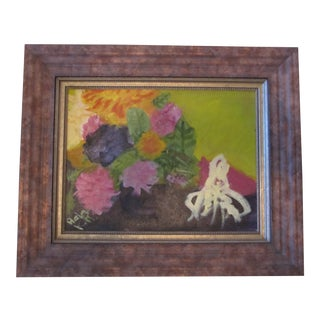 Abstract Painting of Bouquet of Flowers For Sale