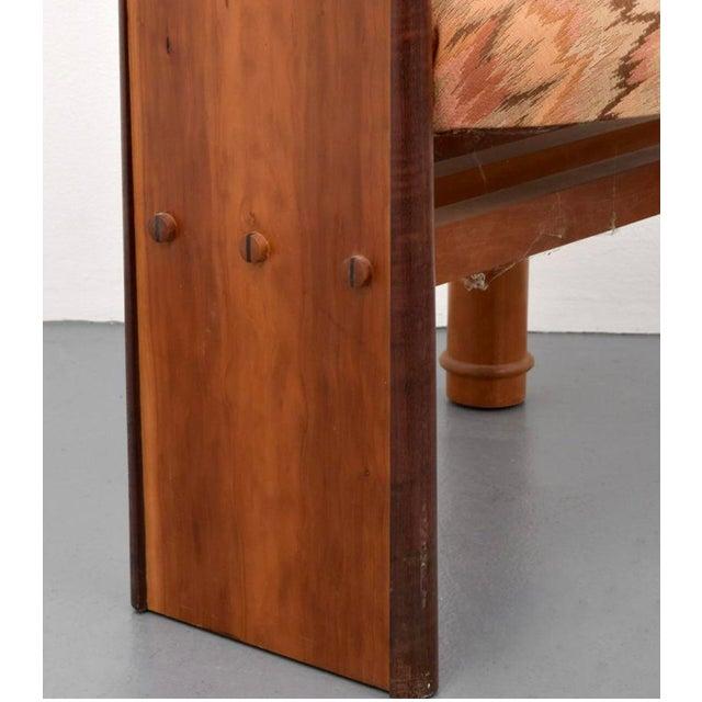 "Postmodern Post Modern Jack Larimore Handmade ""Fallopian"" High Back Mahogany Dining Chairs - Set of 4 For Sale - Image 3 of 6"
