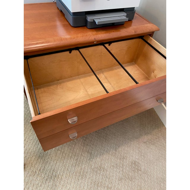 Pine Sligh Executive Filing Cabinet For Sale - Image 6 of 6