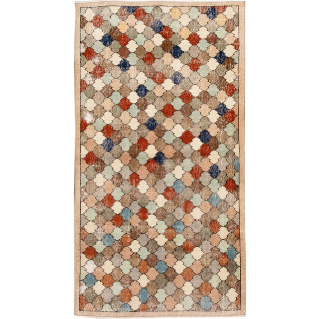 Vintage Turkish Scatter Wool Rug 4 X 8 For Sale - Image 13 of 13