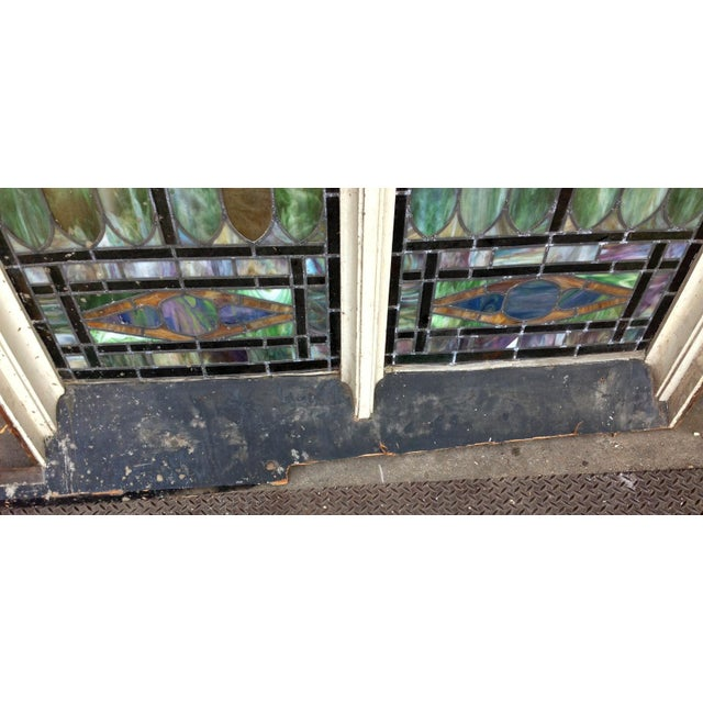 Late 19th Century Multicolored Stained Glass Window For Sale - Image 4 of 4
