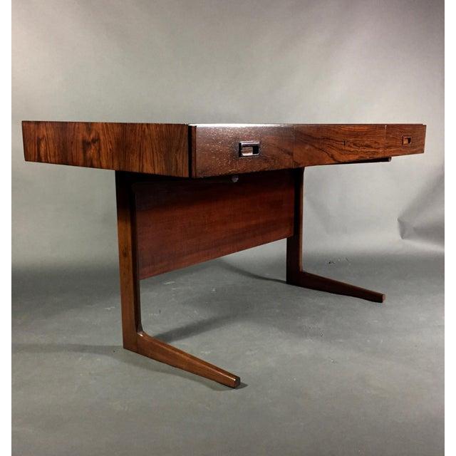 "Georg Petersens 1970 ""Cassette"" Desk in Rosewood, Style of Georg Petersens For Sale - Image 4 of 12"