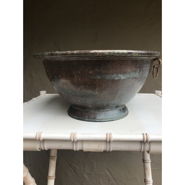 Early 19th Century Large Handmade Copper Pedestal Bowl For Sale - Image 5 of 7