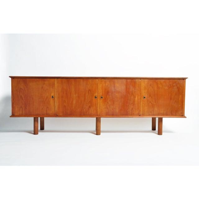 French Mid-Century Modern Walnut Veneer Sideboard For Sale - Image 13 of 13