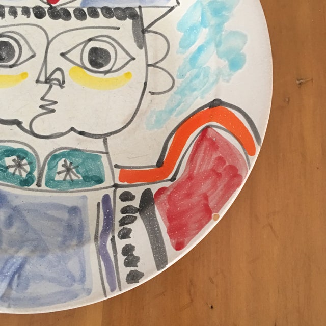 """1960s DeSimone Mi- Century 10 """" Pottery Charger For Sale - Image 5 of 10"""