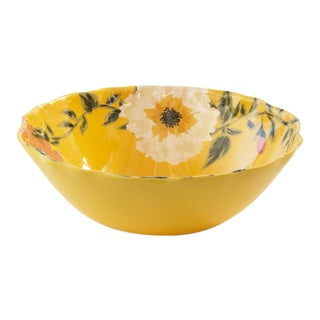 Kenneth Ludwig Chicago Floral Melamine Bowl For Sale