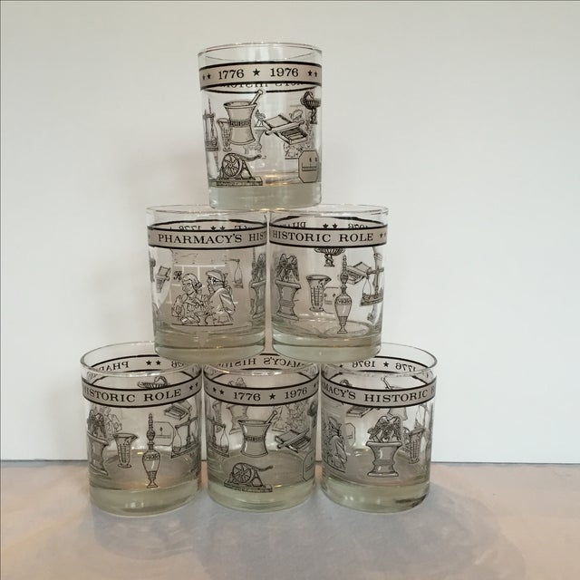 Pharmacy Cocktail Glasses - Set of 6 For Sale - Image 11 of 11