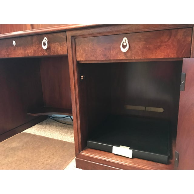 Burlwood Thomasville Bogart Desk Credenza For Sale - Image 7 of 11